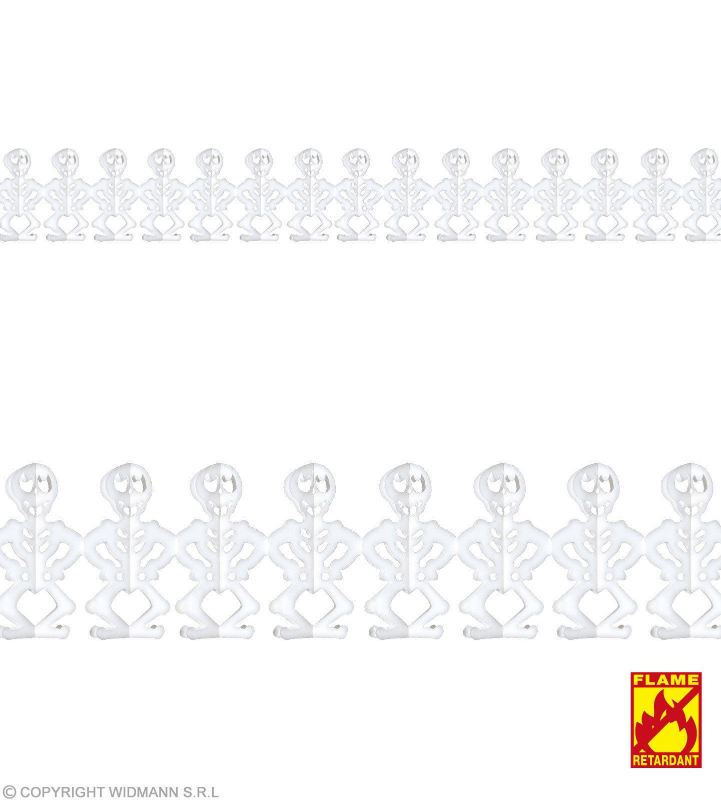 Garland 3M Flme Ret Skeleton - Fancy Dress (Halloween)