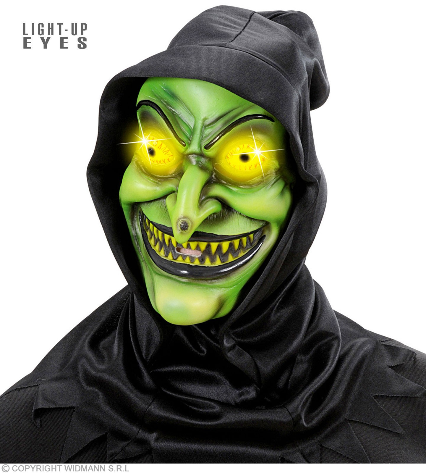 Hooded Witch Masks Light - Up Eyes - Fancy Dress (Halloween)