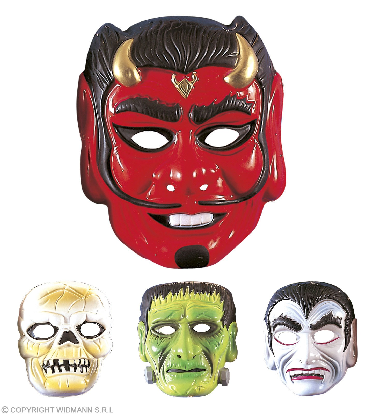 Plastic Horror Masks - 4 Styles - Fancy Dress (Halloween)