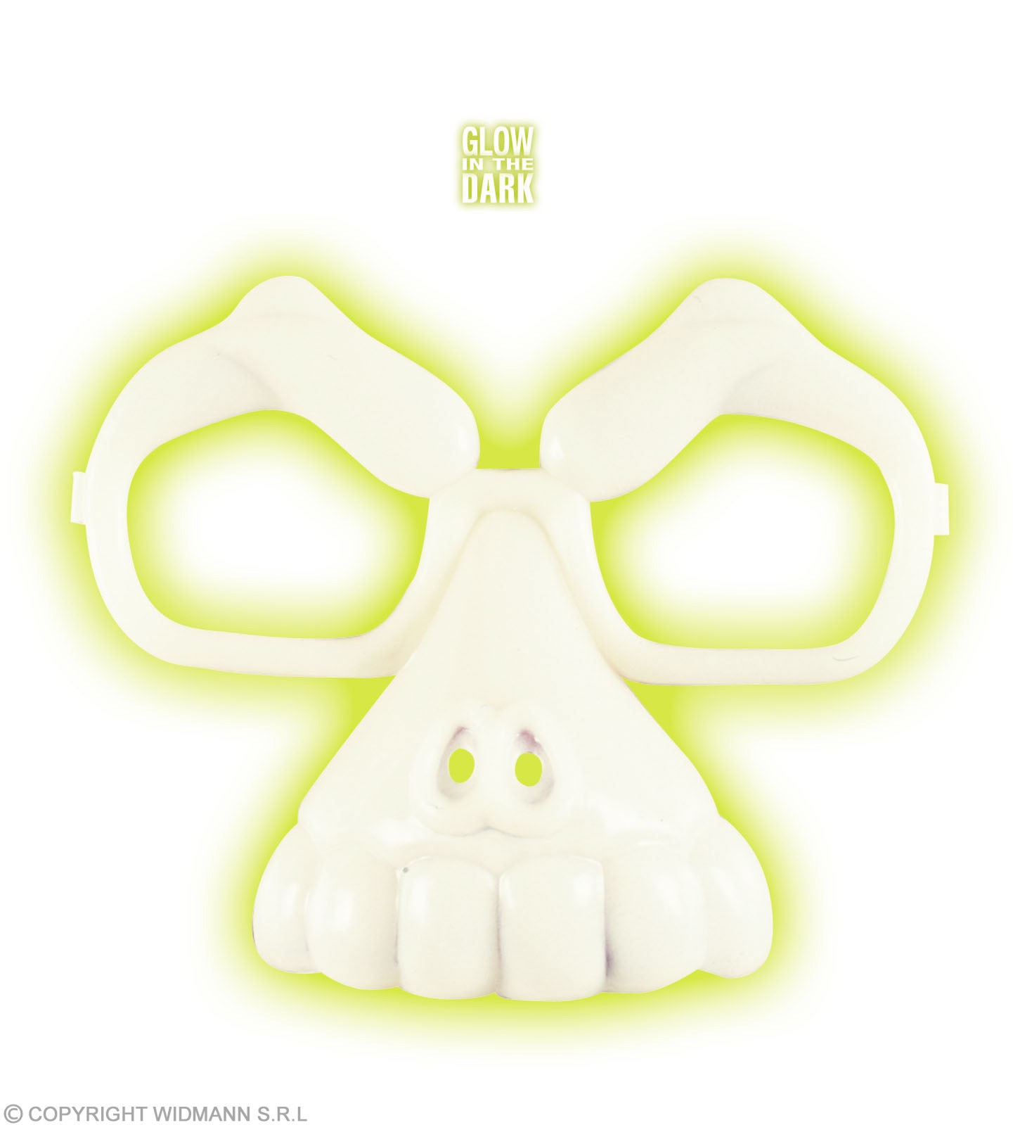 Glow In The Dark Skull Glasses Fancy Dress