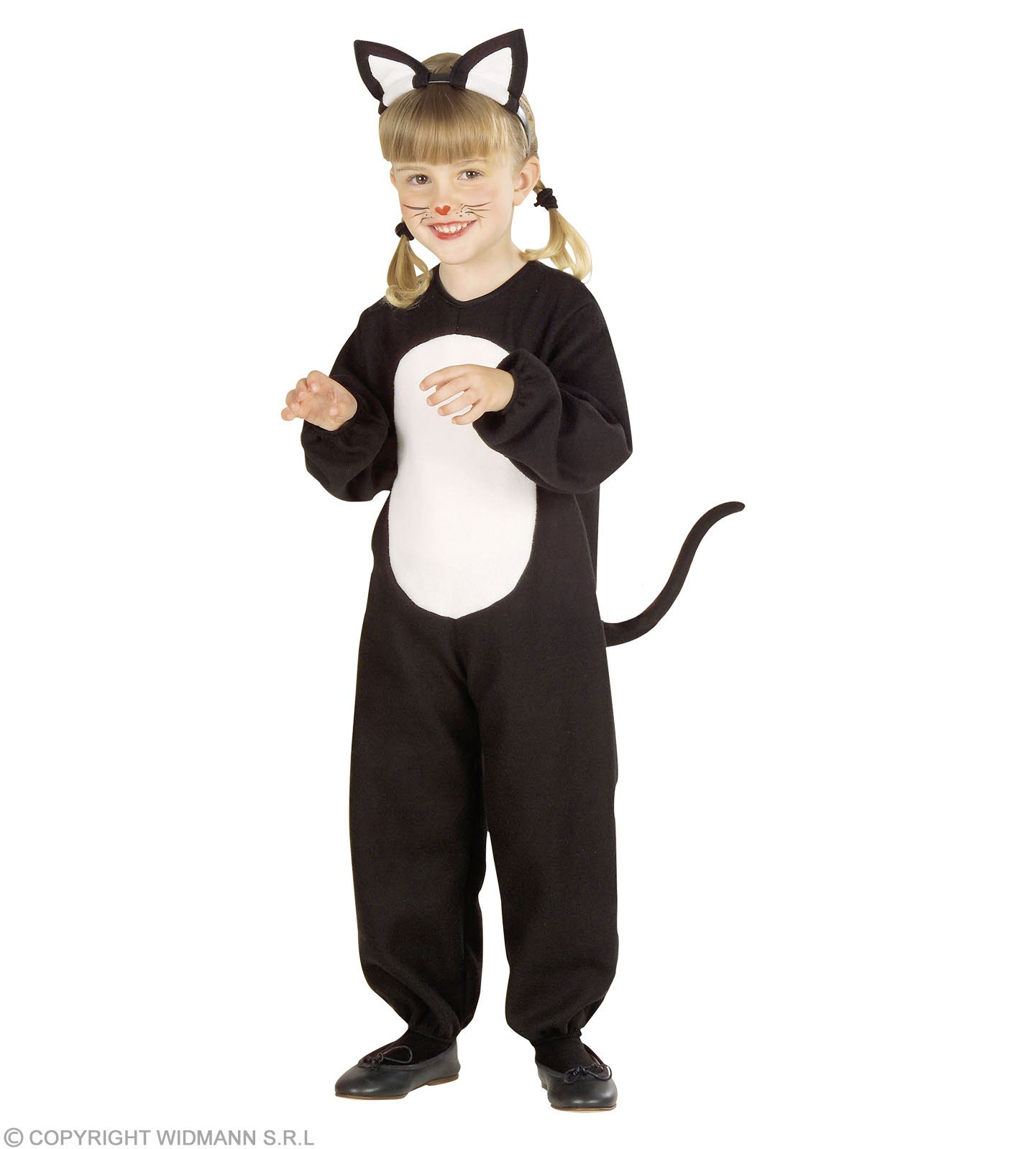 Cat & Jumpsuit & Ears, Soft & Cute Fancy Dress Age 2-3 (Animals)