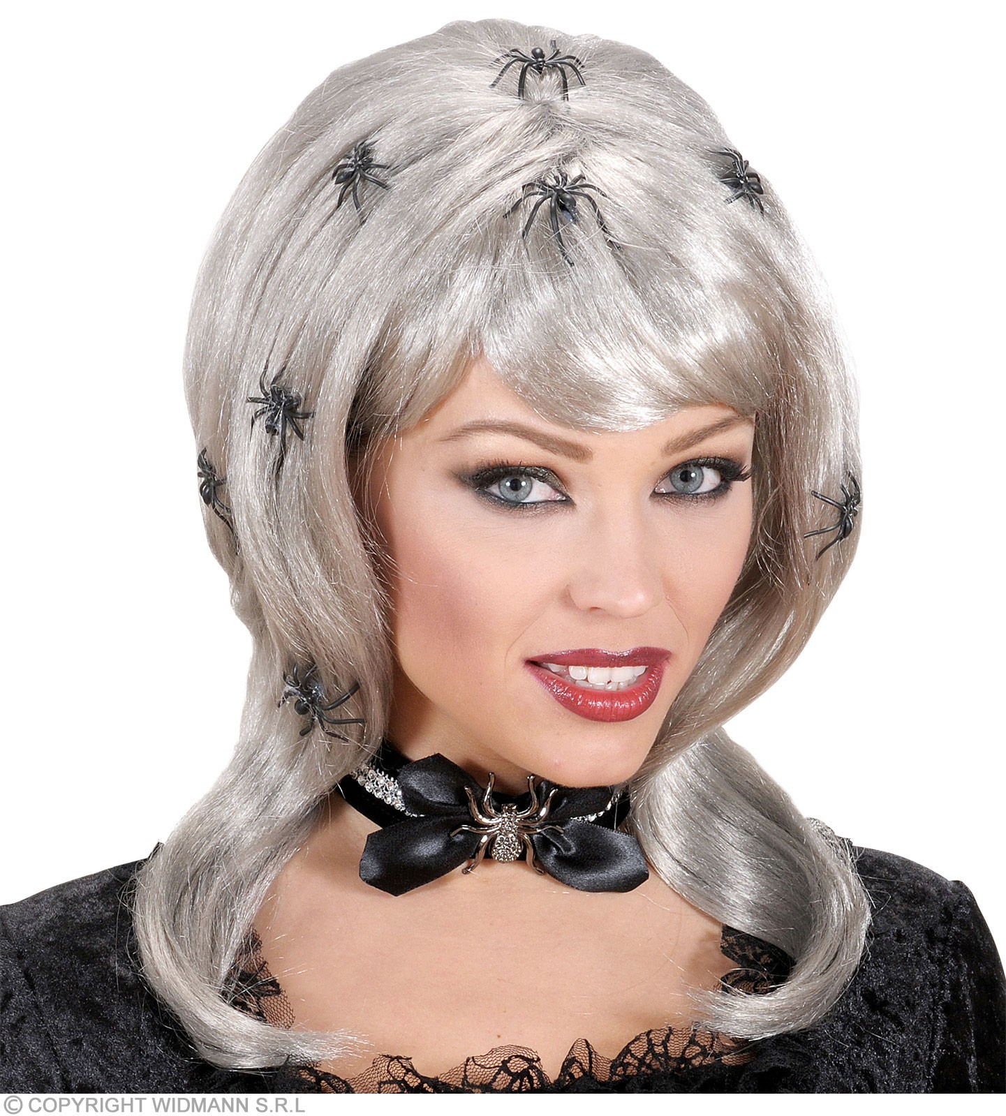Spiderlady Wigs With Spiders In Polybag - Fancy Dress