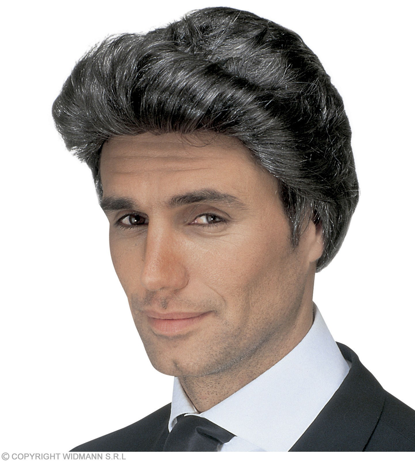 Grizzled Luciano Wig In Polybag - Fancy Dress