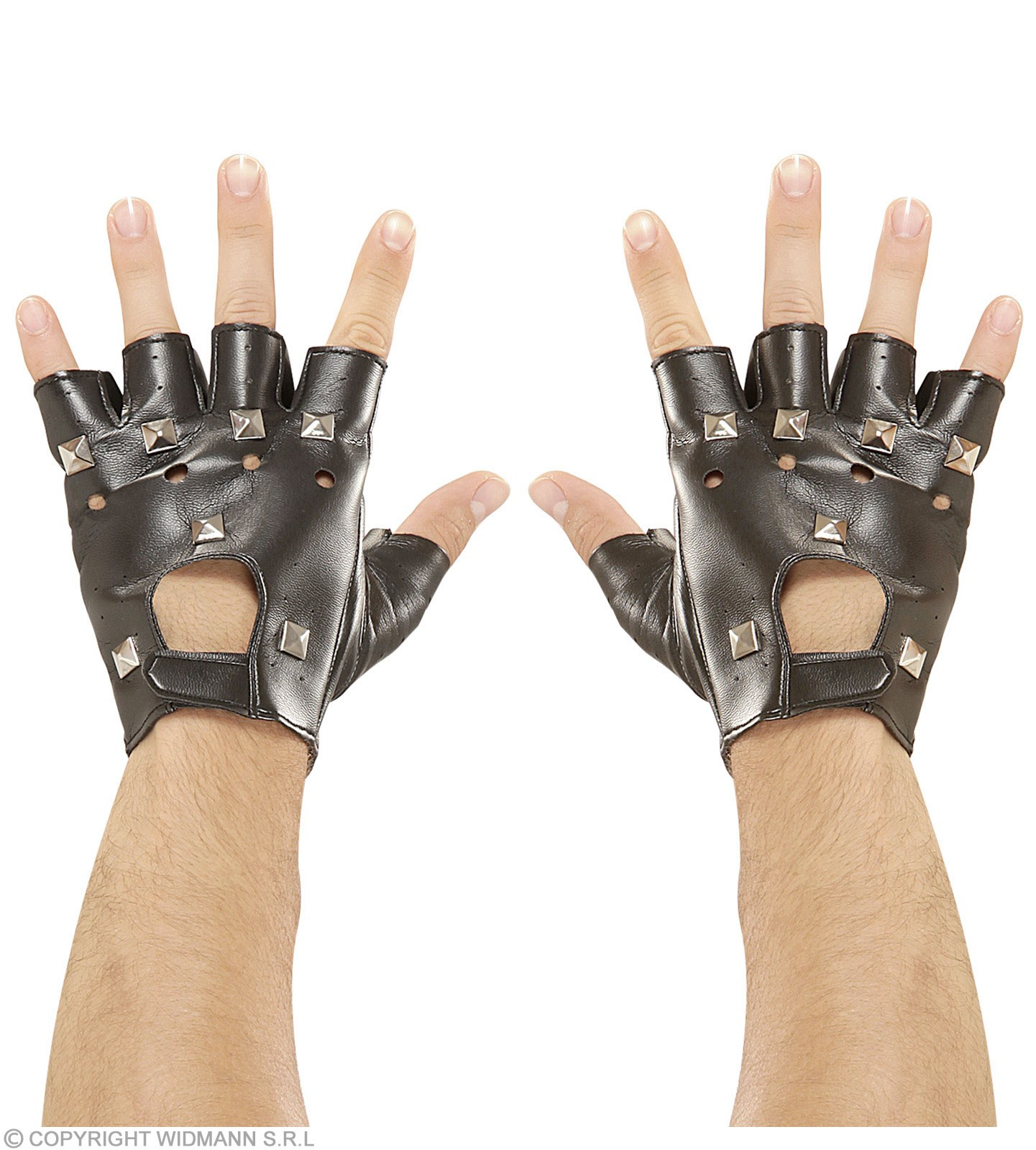 Leatherlook Studded Gloves - Fancy Dress