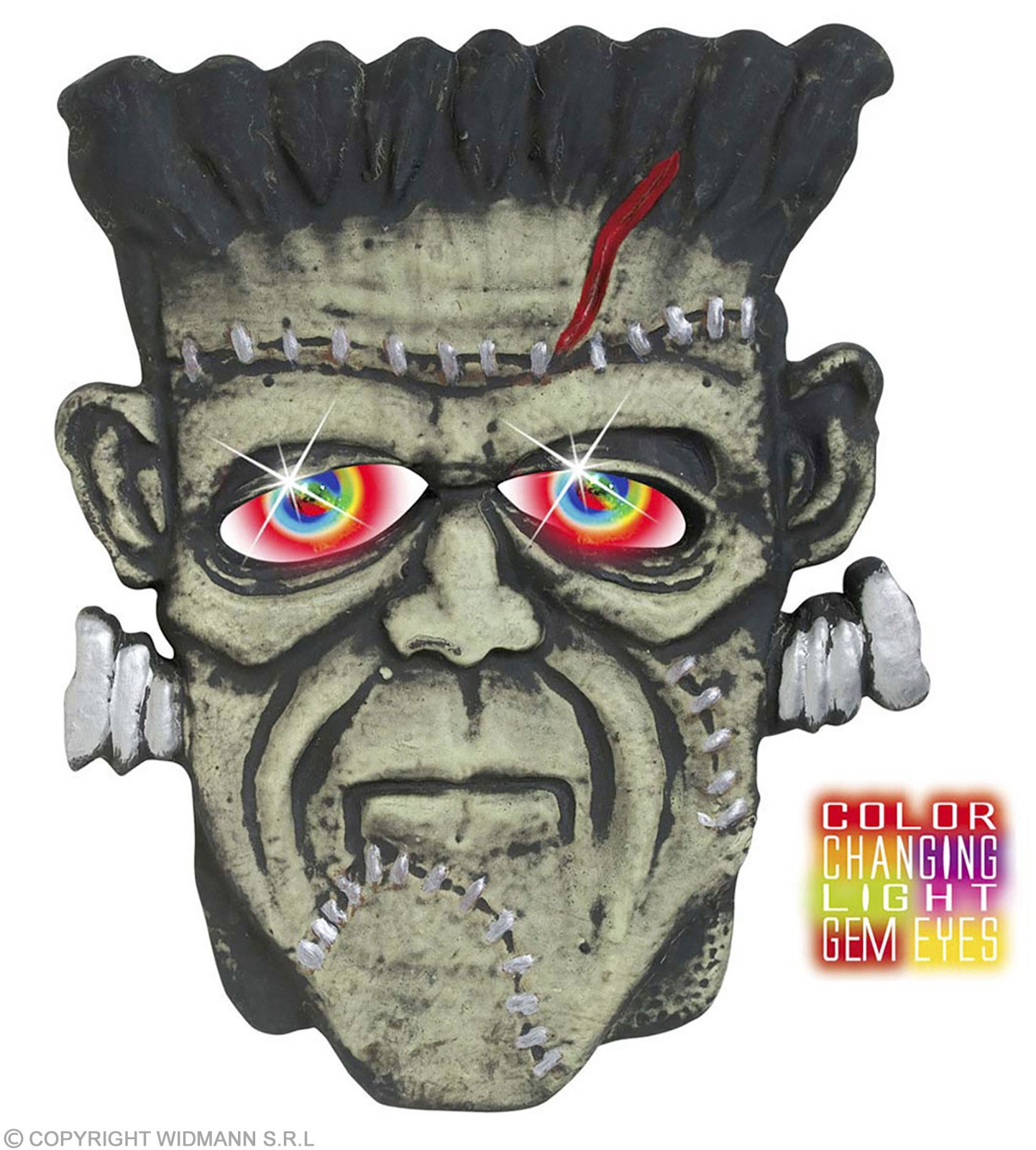 Monster Heads W/Colour Changing Eyes - Fancy Dress (Halloween)