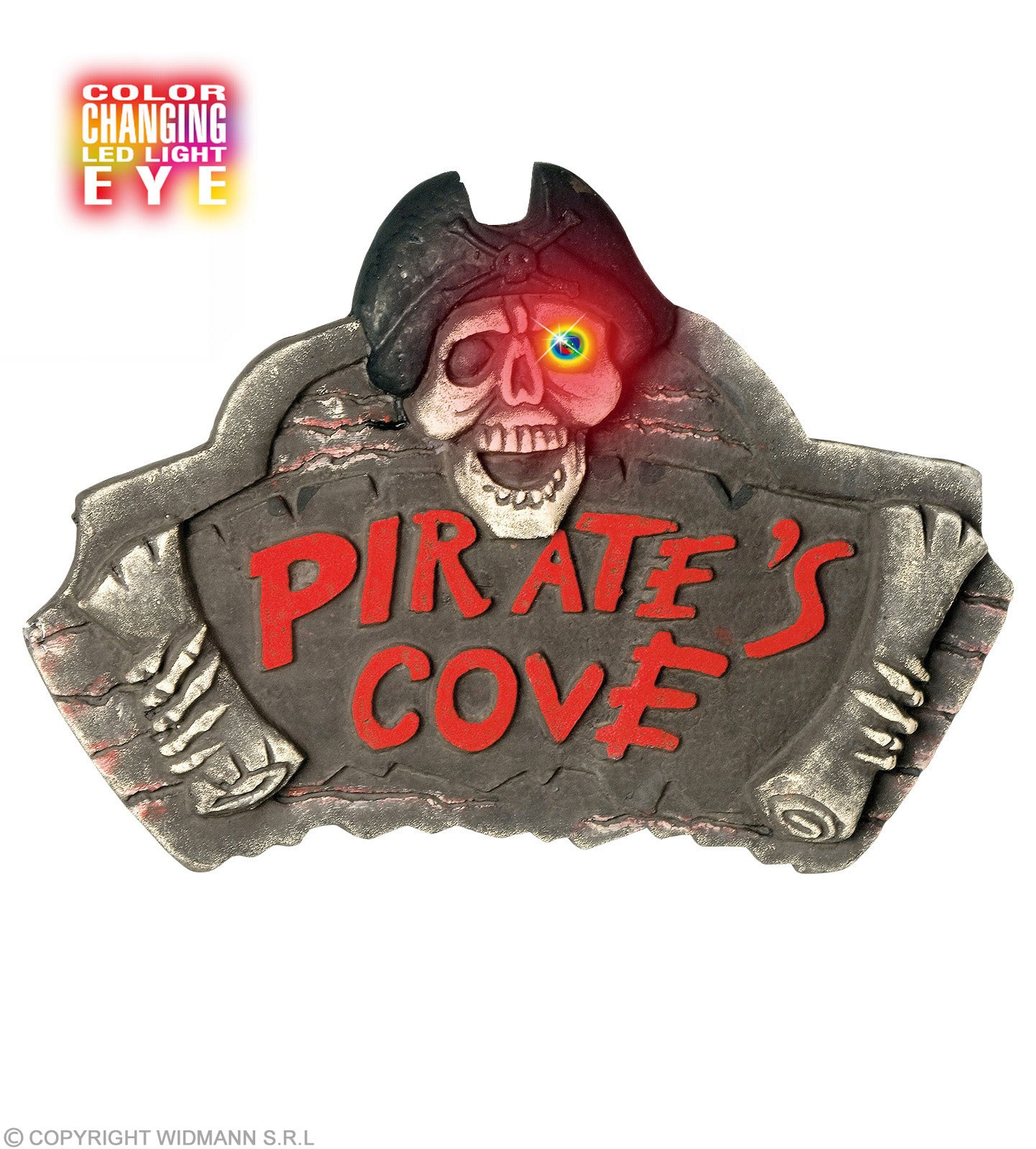 Pirate Cove Signs With Changing Color Eye - Fancy Dress (Pirates)