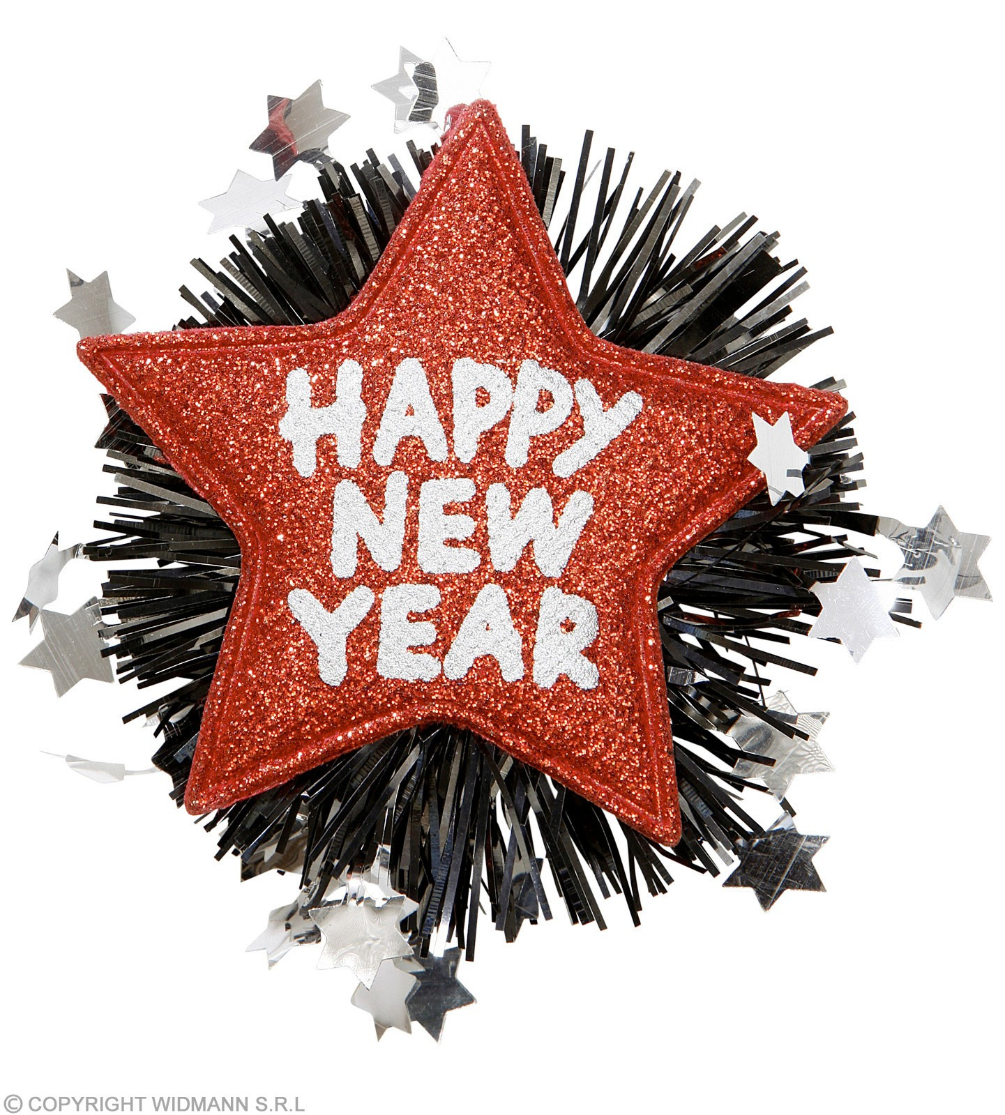 Red Happy New Year Brooches Jewellery - (Red)