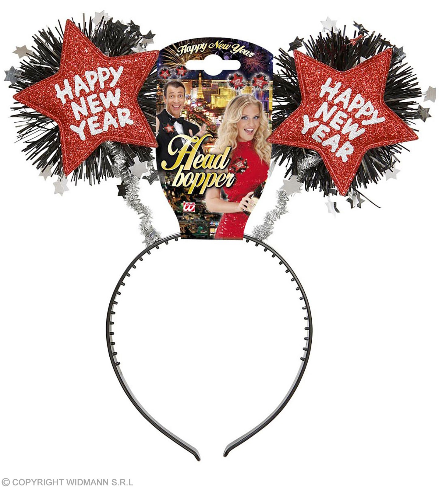 Red Happy New Year Head Boppers Accessories - (Red)