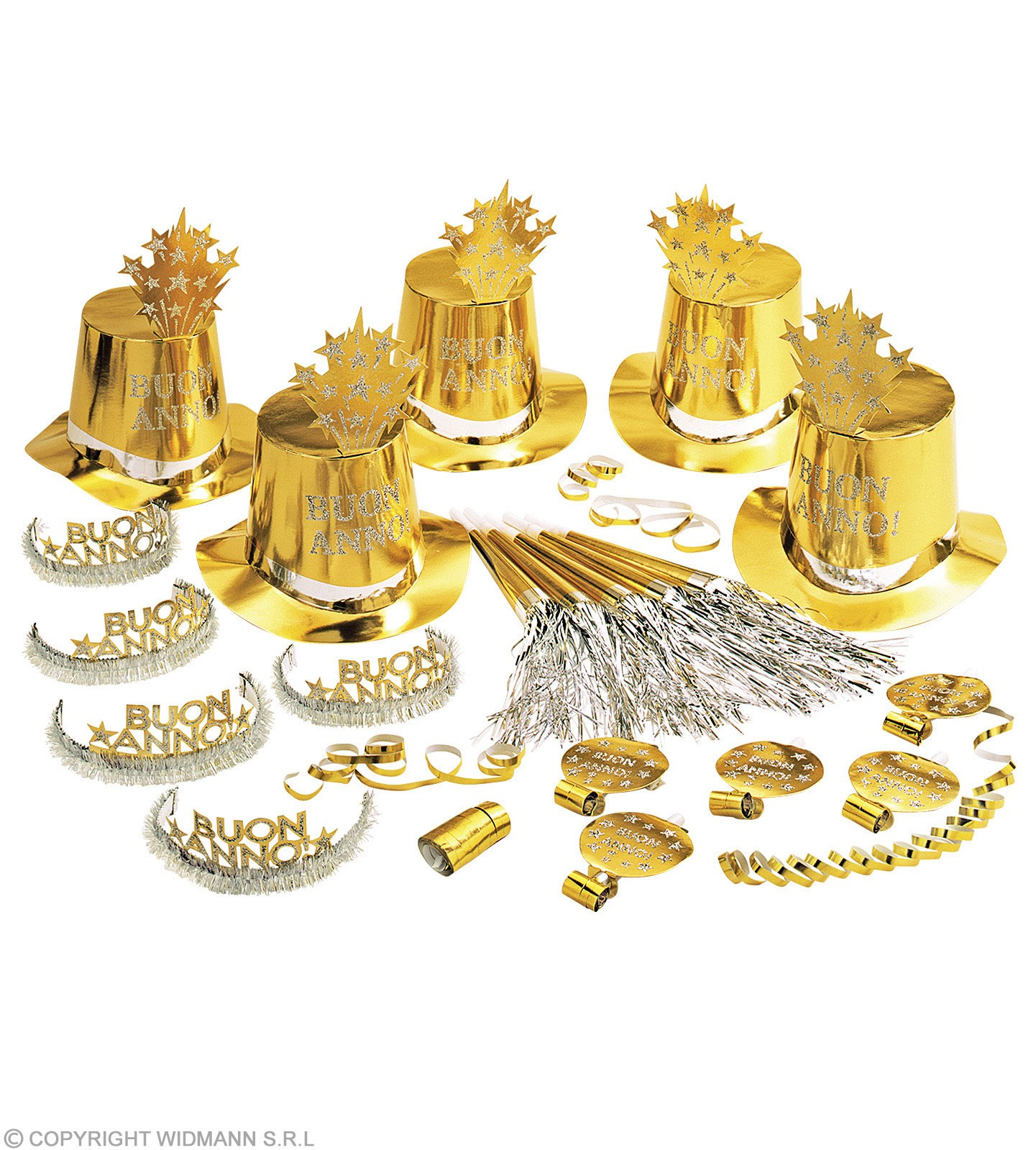 Gold Buon Anno Oro For 10 People Fancy Dress
