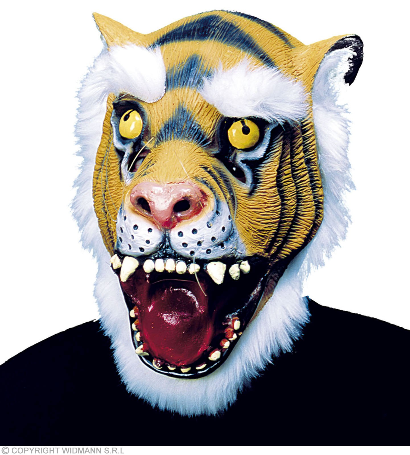Tiger Mask With Plush Hair - Fancy Dress (Animals)