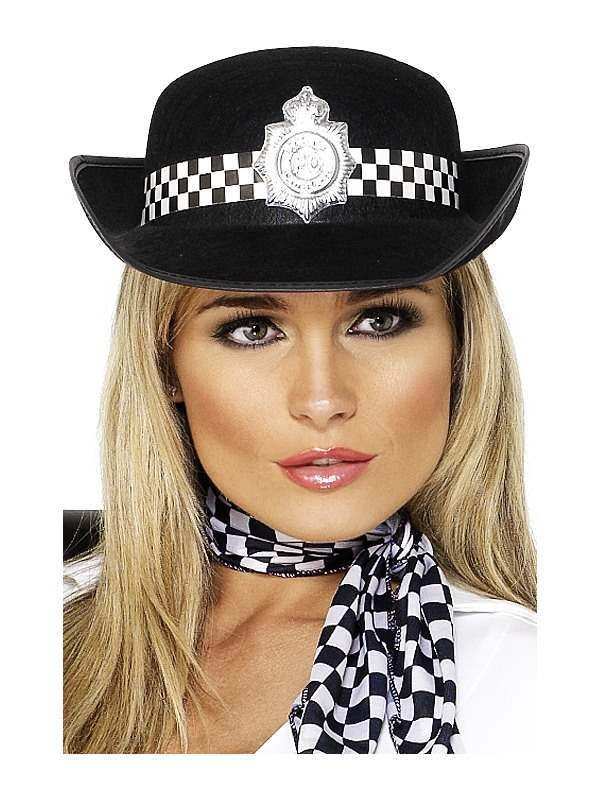 Policewomen'S Hat - Fancy Dress Ladies (Cops/Robbers)