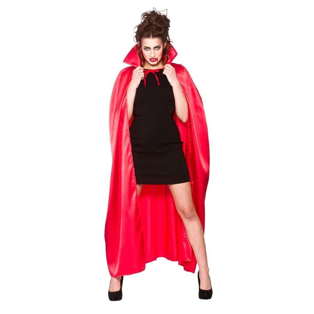 Deluxe Satin Cape w/ Collar RED Adult Accessories