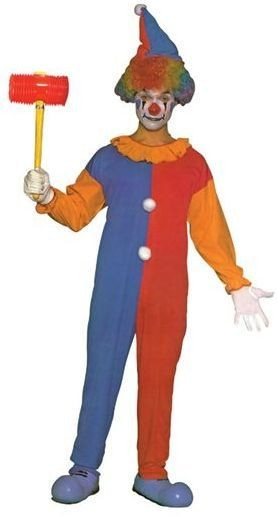 Clown Hat & Jumpsuit Fancy Dress Costume