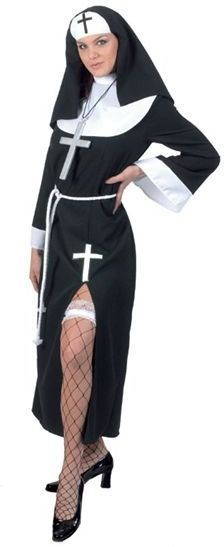Sexy Nun (Split Dress) Fancy Dress Costume