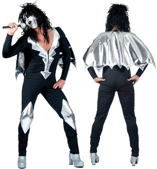 Glam Rock Jumpsuit Fancy Dress Costume