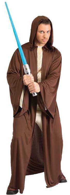 Adults Star Wars The Force Awakens Jedi Robe Fancy Dress Costume