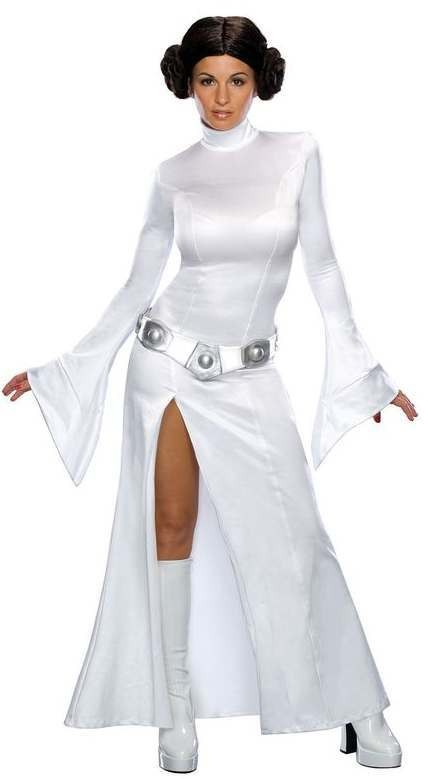 Ladies Star Wars Classic Princess Leia Fancy Dress Costume