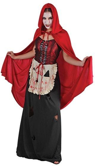 Wicked Red Riding Hood Fancy Dress Costume