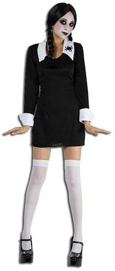 Creepy School Girl Fancy Dress Costume