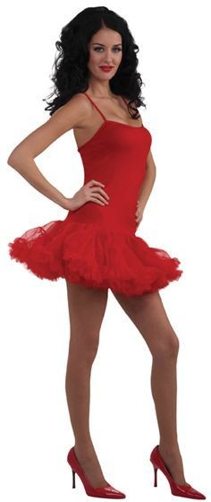 Petticoat Dress. Red Fancy Dress Costume