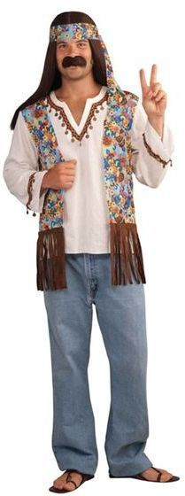 Hippy Groovy Male Fancy Dress Costume