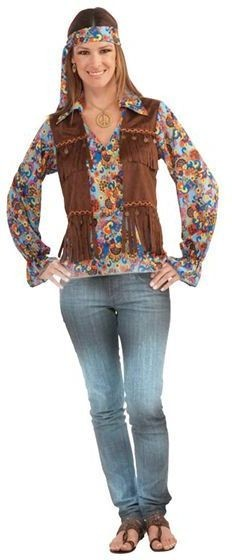 Hippy Groovy Female Fancy Dress Costume