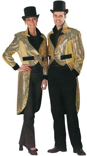 Tailcoat. Gold Lady Fancy Dress Costume
