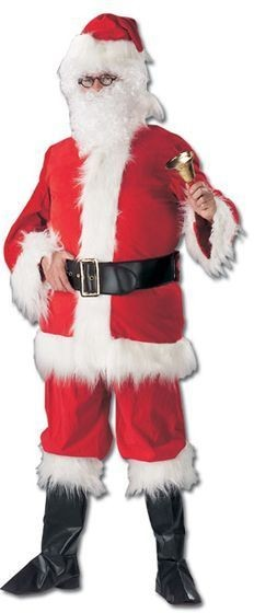 Santa (With Boots) Deluxe Fancy Dress Costume