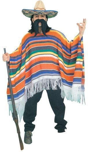 Mexican Poncho. Packaged (Cultures , Cowboys/Native Americans Fancy Dress)