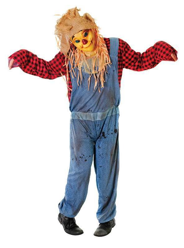 Scarecrow With Smiling Fancy Dress Costume