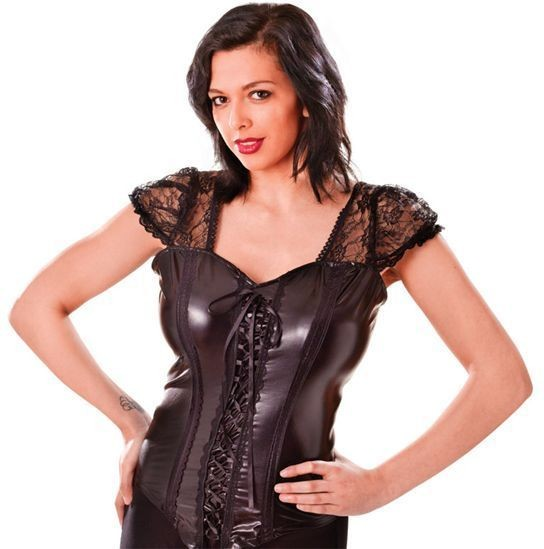 Corset. Black (Halloween , Sexy Fancy Dress)