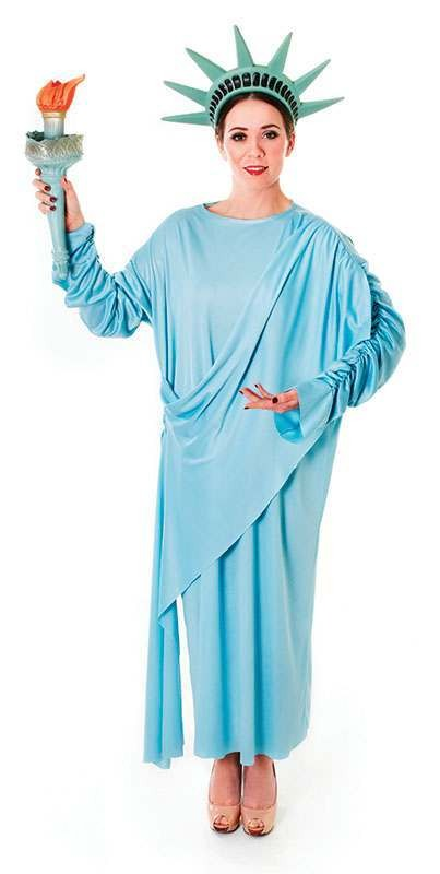 Ladies Statue Of Liberty Fancy Dress Costume