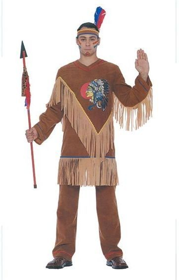 Native American Man. Packaged Fancy Dress Costume