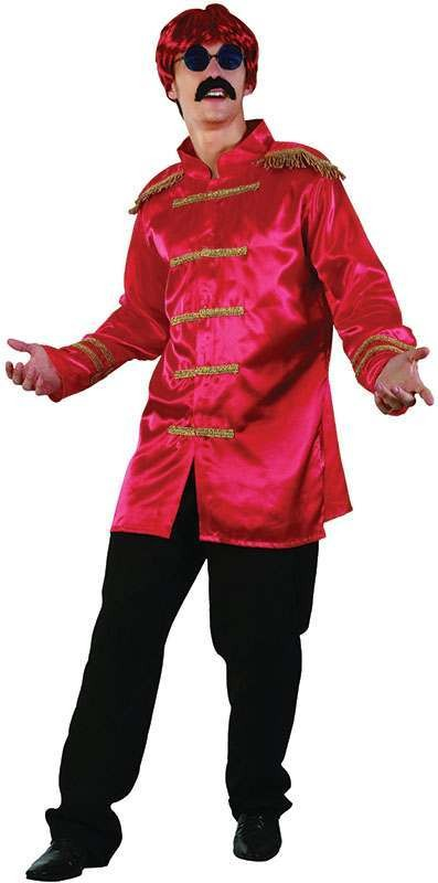 Sgt Pepper Jacket Budget. Red Fancy Dress Costume