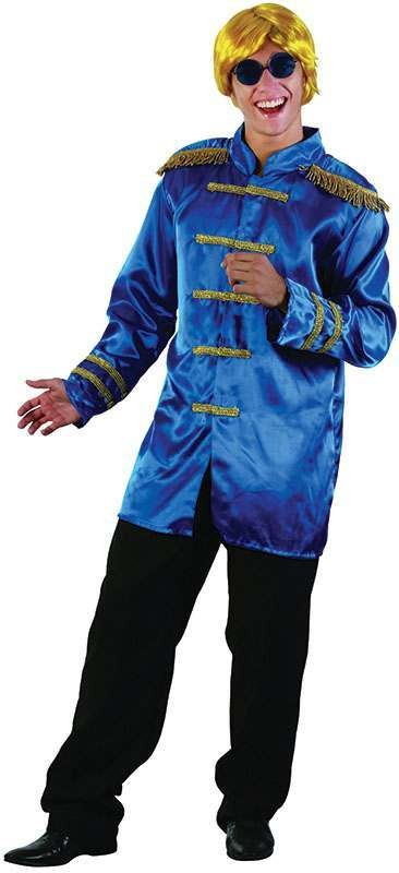 Sgt Pepper Jacket Budget. Blue Fancy Dress Costume