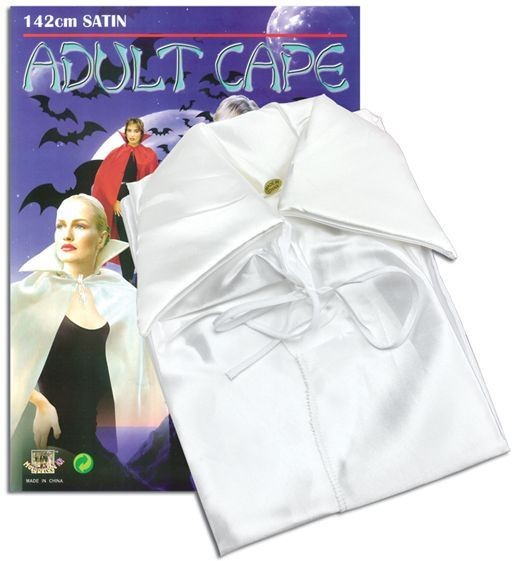 White Satin Cape (Halloween Fancy Dress)