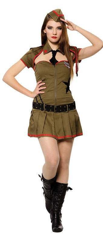 Sexy Soldier Fancy Dress Costume