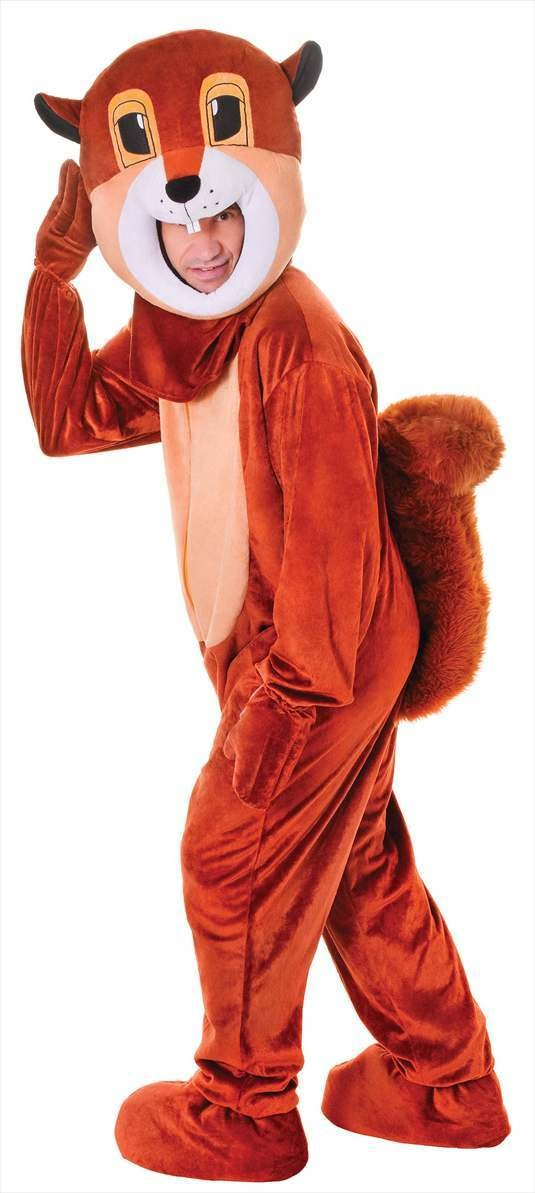 Unisex Stage/Panto/Stag Big Head Squirrel Fancy Dress Costume