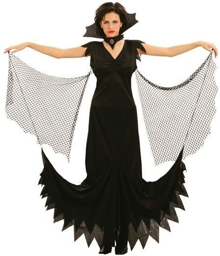 Gothic Vampiress Fancy Dress Costume