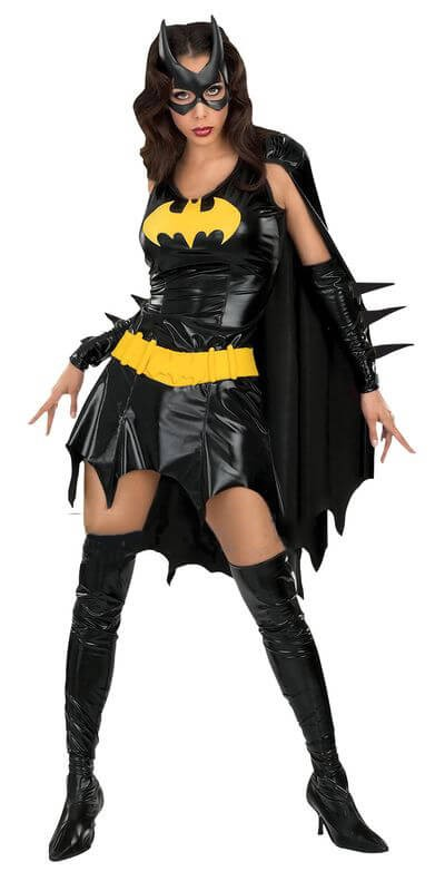 Ladies Deluxe Bat Girl Superhero Fancy Dress Costume