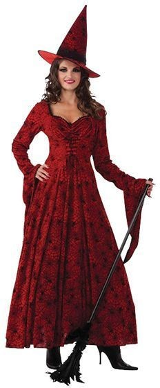 Crimson Witch Fancy Dress Costume