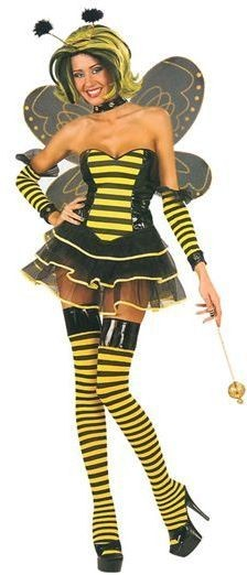 Sexy Bumble Bee Fancy Dress Costume