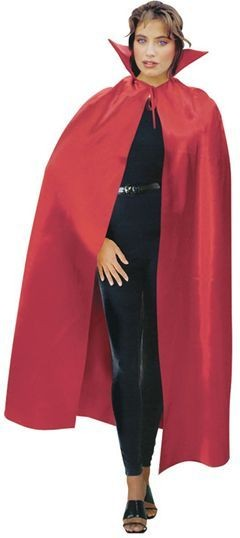 Dracula Cape 142Cm Red Satin (Halloween Fancy Dress)