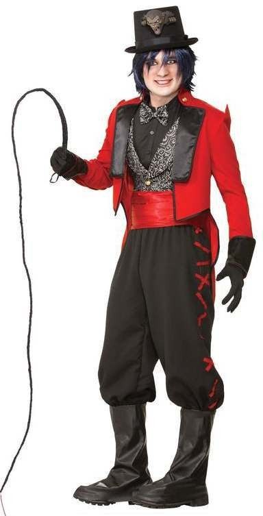 Mens Twisted Attraction Ring Master Halloween Fancy Dress Costume