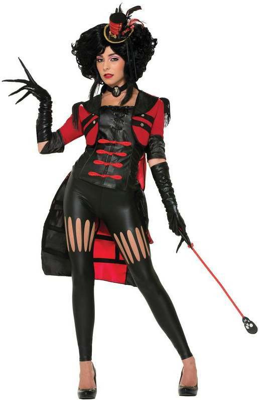 Ladies Twisted Attraction Lion Tamer Halloween Fancy Dress Costume