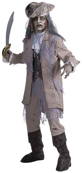 Zombie Pirate Ghost Fancy Dress Costume