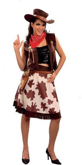 Cowgirl /Cowprint Dress Fancy Dress Costume