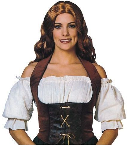 Velvet Corset (Brown) (Medieval , Pirates Fancy Dress)