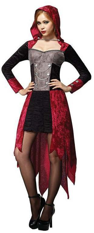 Ladies Red Woman/Demon Maiden Halloween Fancy Dress Costume