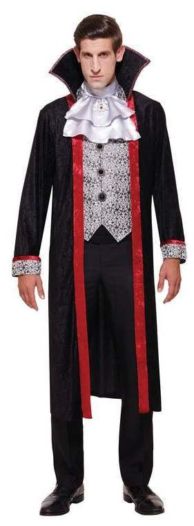Mens Gothic Vamiper Duke Halloween Fancy Dress Costume